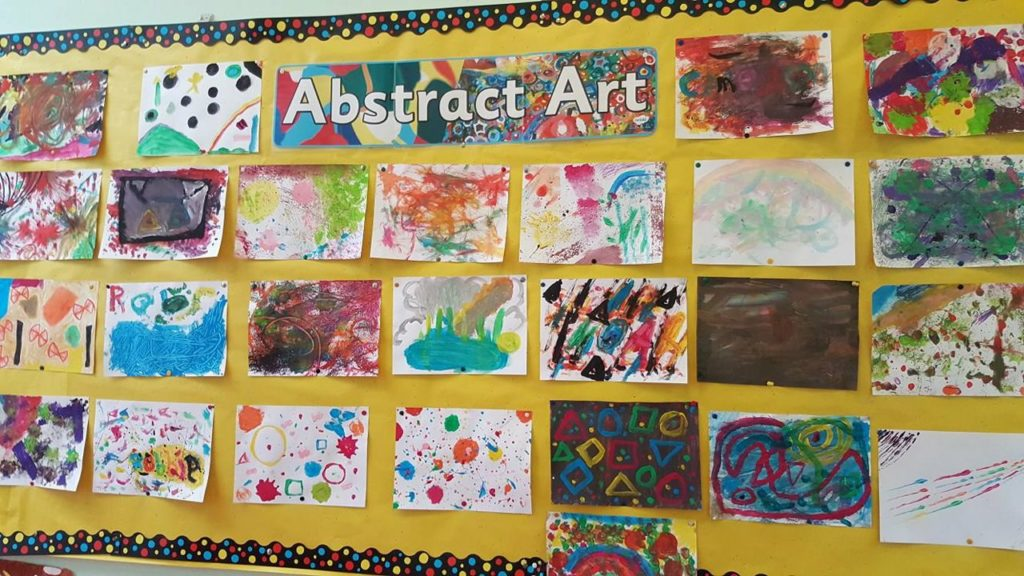 Kandinsky inspired abstract art by 5th & 6th class.