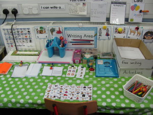 Our writing table.