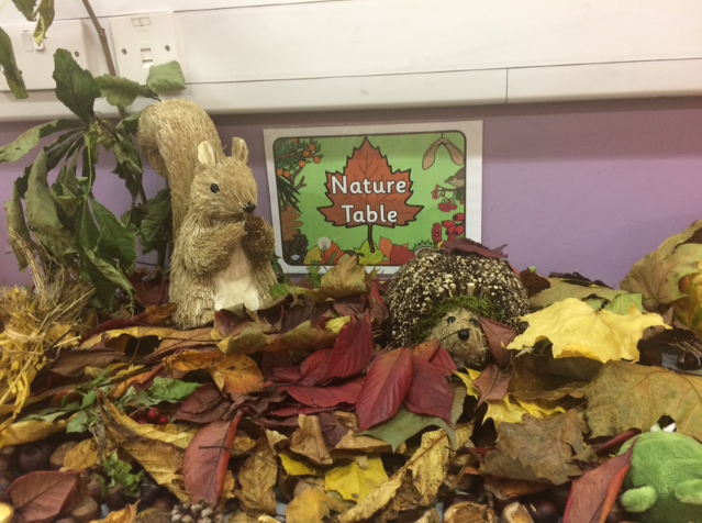 First and Second Class have been busy learning all about autumn. We really enjoyed making our Autumn Nature Table.