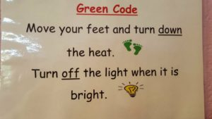 Our Green School Caption.
